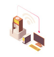 wifi wireless connection isometric vector image
