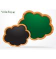Blackboard cloud vector image