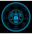 Information Security Concept vector image