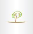 stylized green tree eco symbol design vector image