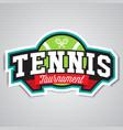 tennis logo badge design templat vector image