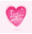 Valentines Day Card - with Watercolor Heart vector image