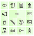 14 icon icons vector image vector image