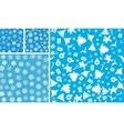 4 Christmas Seamless Background set vector image vector image