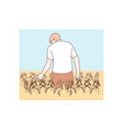 agriculture farming agronomy concept vector image vector image