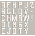 Alphabet cut out of paper vector image