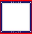 american flag symbols patriotic border vector image vector image