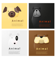 Animal portrait collection with dogs 2 vector image vector image