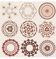 arabesque pattern set vector image vector image