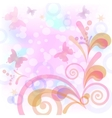 Background with butterflies and figures vector image