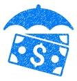 Banknotes Umbrella Grainy Texture Icon vector image
