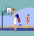 basketball sports game in minimalist style vector image vector image