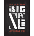 Big Sale lettering typography banner flyer vector image