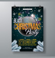 black christmas party flyer vector image vector image