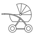 buggy isolated object image vector image