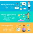 Business Ability of Visualize Learning vector image