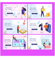 business investor on landing page vector image vector image