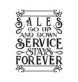 business motivation quote sales go up and down vector image vector image