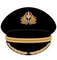Cap officer of the Navy of Great Britain vector image vector image