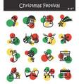 christmas festival icon set 4 vector image vector image