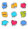 comics bubble cartoon speech pop art balloon talk vector image vector image