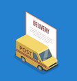 commercial transport isometric 3d banner vector image vector image