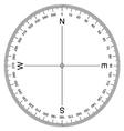 Compass Protractor vector image vector image