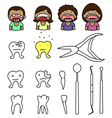 crazy dentist vector image vector image