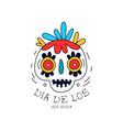 dia de los logo mexican day dead holiday vector image