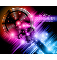 Disco Speakers Background vector image vector image