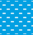 eggs in carton package pattern seamless blue vector image vector image