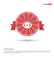 eye icon - red ribbon banner vector image
