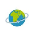 flight around world icon flat style vector image vector image