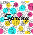 floral pattern background spring vector image vector image