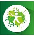 football symbol label laurel wreaths vector image