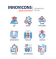 geolocation - line design icons set vector image vector image