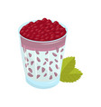 glass of fresh pomegranate cocktail sweet fruit vector image vector image