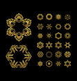 gold mandala set vector image