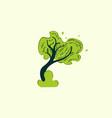 green tree naturally icon logo vector image vector image