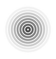 grey concentric rings epicenter theme simple vector image
