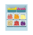 Grocery Store Assortment Healthy Nutrition vector image