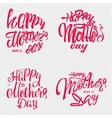 Happy Mothers Day - poster stamp badge insignia vector image