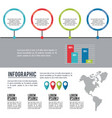 infographic american continent vector image vector image