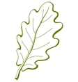 Leaf of oak tree 3 pictogram vector image vector image