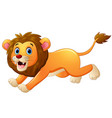 lion cartoon running vector image