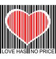 love has no price vector image vector image