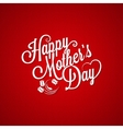 mothers day vintage lettering background vector image vector image
