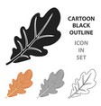 oak leaf icon in cartoon style isolated on white vector image