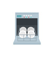 open dishwasher icon flat style vector image vector image