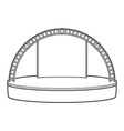 outline dais round stage metal truss vector image vector image
